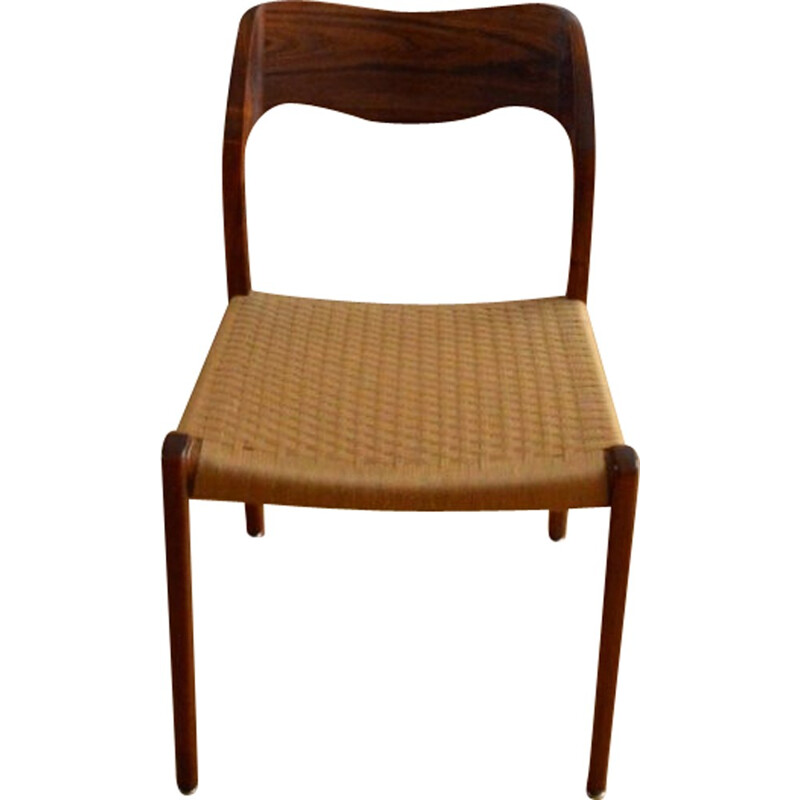 Set of six chairs by Niels O. MØLLER model 71 in Rio rosewood - 1950s