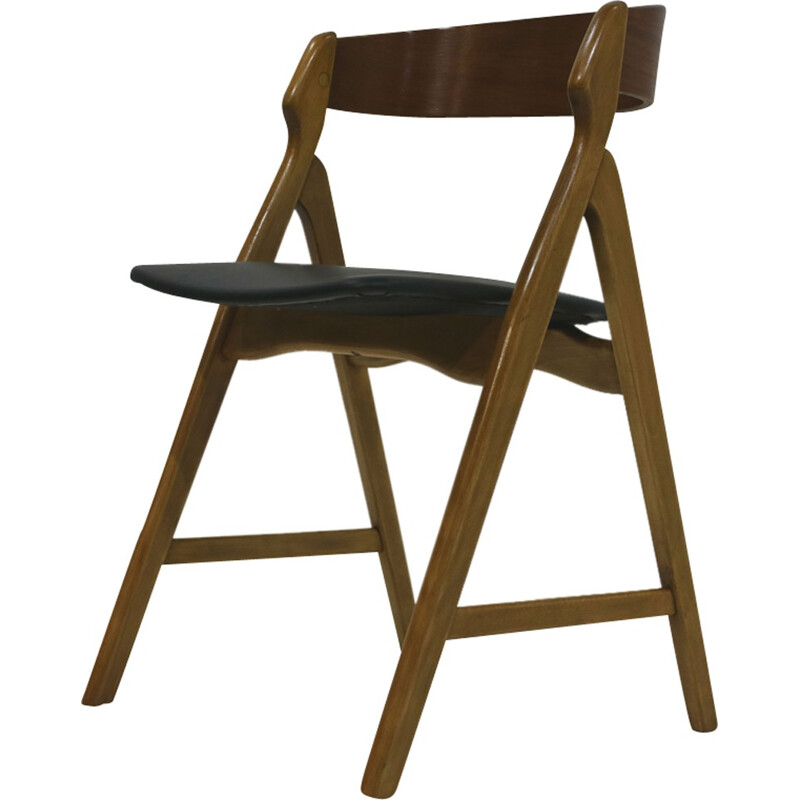 Set of 4 beech dining chairs by Henning Kjaernulf - 1960s