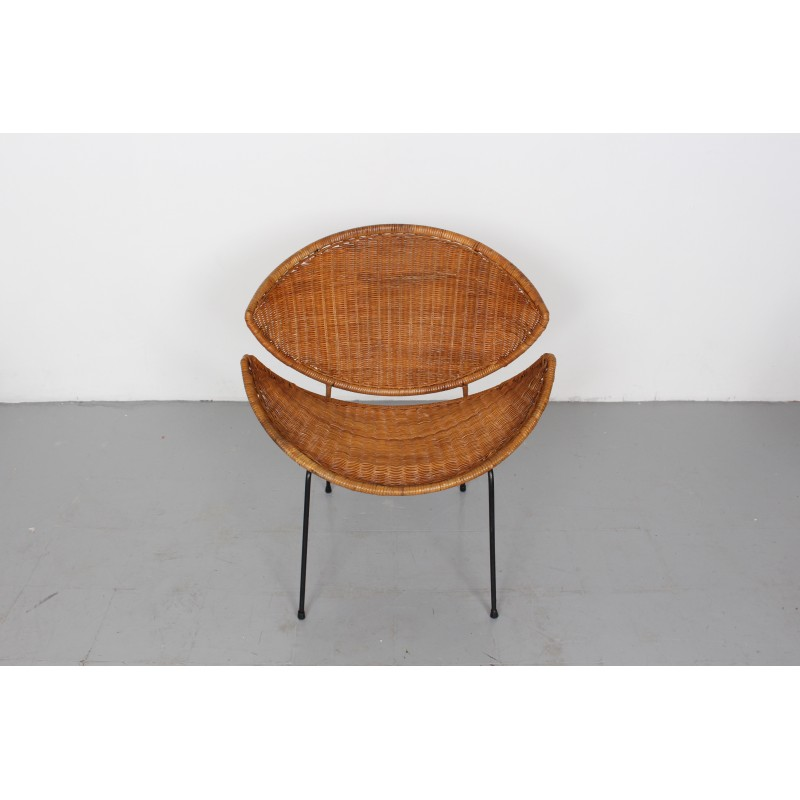 Pleasing Pair Of Mid Century Rattan Scoop Chairs By John Salterini 1960S Uwap Interior Chair Design Uwaporg