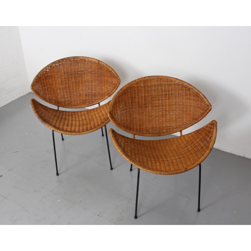 Astonishing Pair Of Mid Century Rattan Scoop Chairs By John Salterini 1960S Uwap Interior Chair Design Uwaporg