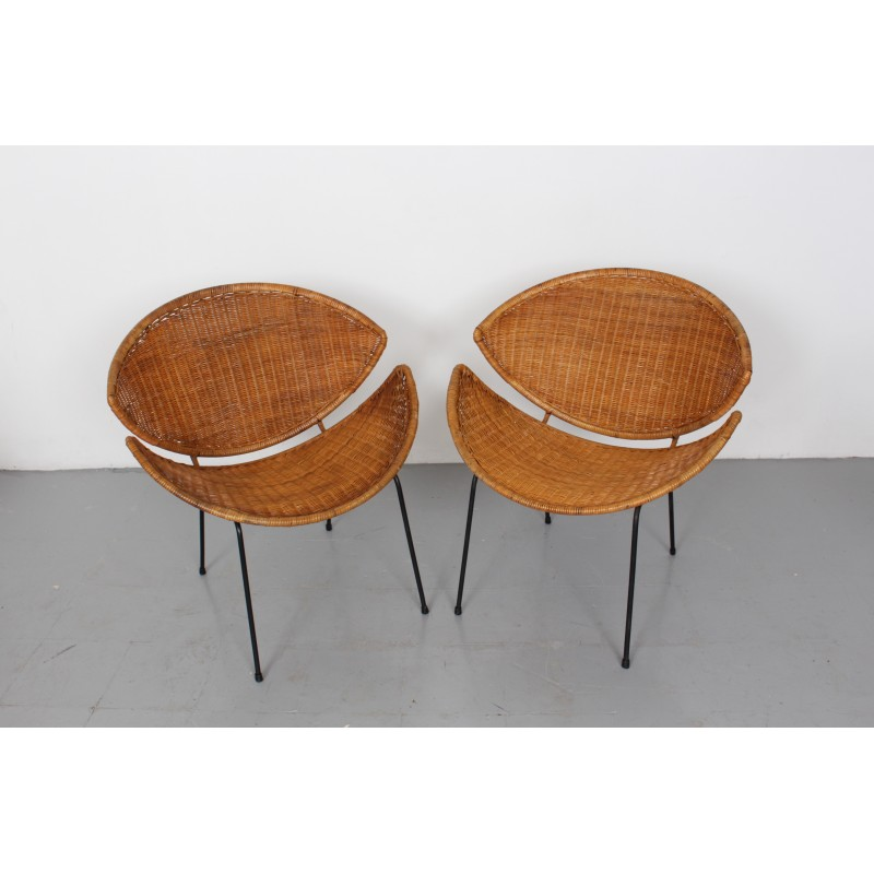 Marvelous Pair Of Mid Century Rattan Scoop Chairs By John Salterini 1960S Uwap Interior Chair Design Uwaporg