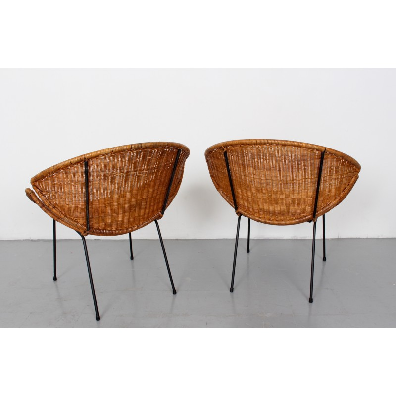 Phenomenal Pair Of Mid Century Rattan Scoop Chairs By John Salterini 1960S Uwap Interior Chair Design Uwaporg