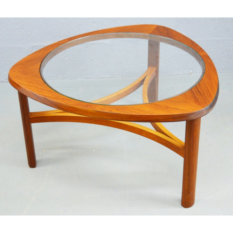 Mid-century teak and glass coffee table by Nathan - 1960s ...