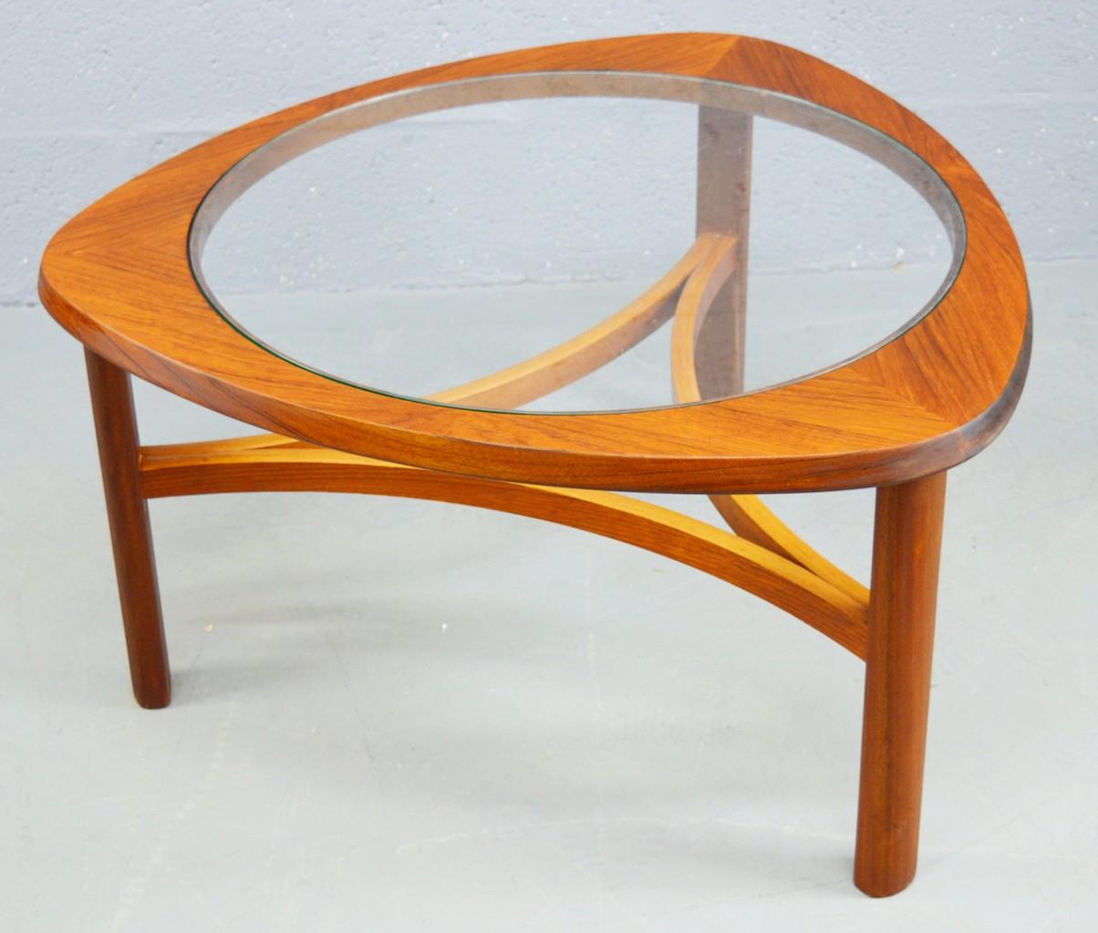 Teak And Glass Coffee Table: Mid-century Teak And Glass Coffee Table By Nathan