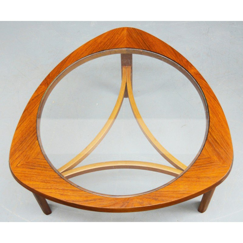 Mid-century Teak And Glass Coffee Table By Nathan