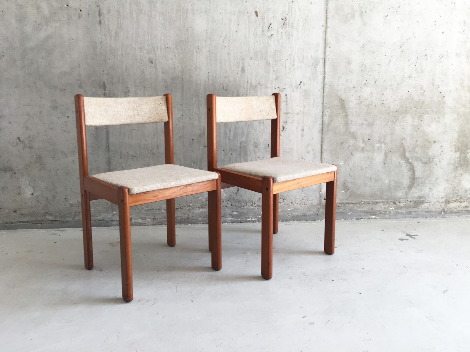 Vintage danish teak dining chairs - 1970s - Design Market