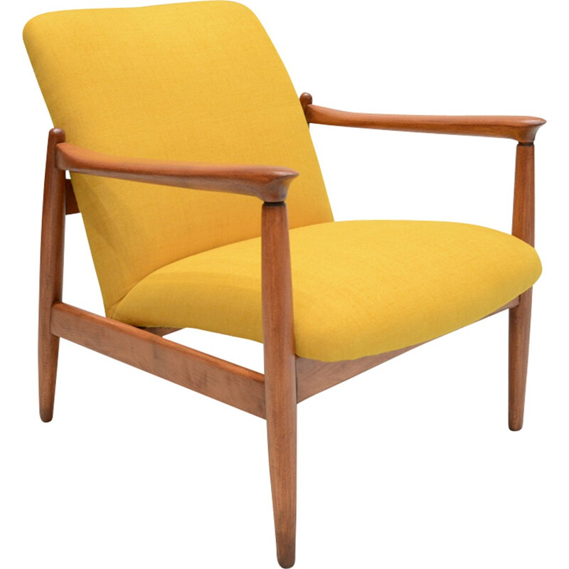 Yellow GMF-64 armchair by Edmund Homa - 1960s