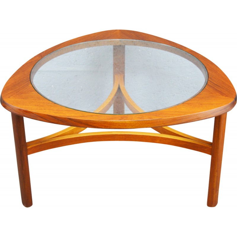Mid Century Teak And Gl Coffee Table By Nathan 1960s