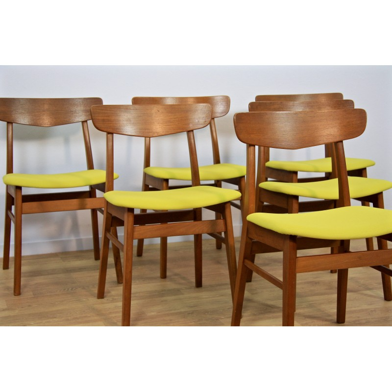 Astounding Set Of 6 Mid Century Dining Chairs By Farstrup 1960S Squirreltailoven Fun Painted Chair Ideas Images Squirreltailovenorg