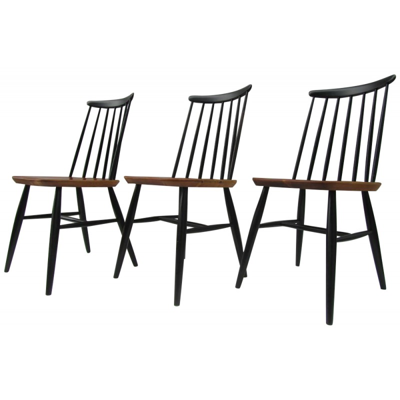 Set of 3 chairs in teak - 1950s