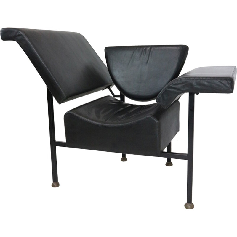 Rob Eckhardt Greetings from Holland leather armchair- 1980s
