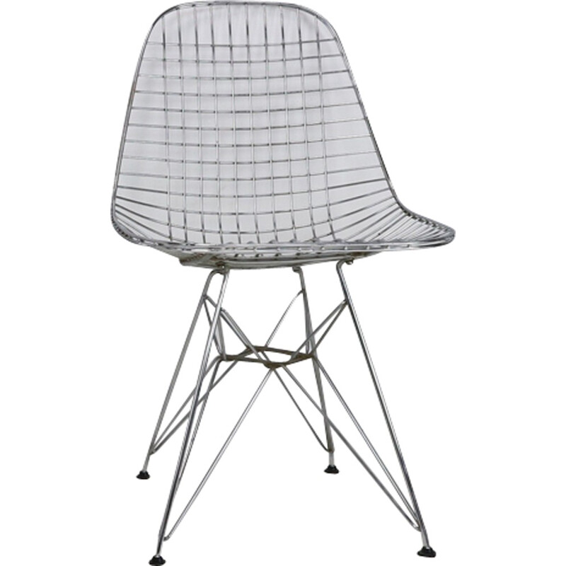 Set of 5 Eames DKR Eiffel Base Wire Chairs for Vitra - 1970s