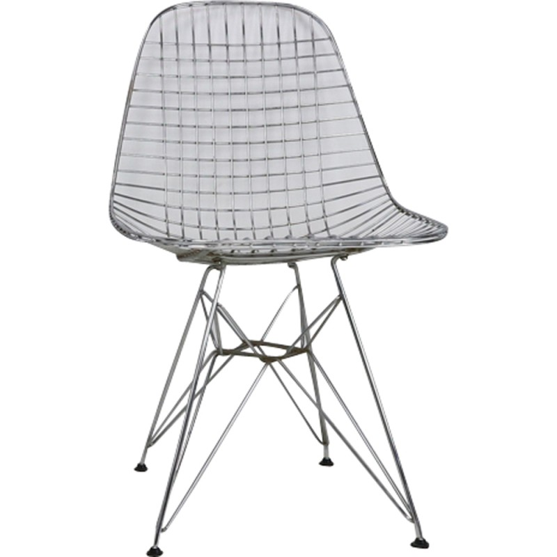 Set Of 5 Eames DKR Eiffel Base Wire Chairs For Vitra   1970s