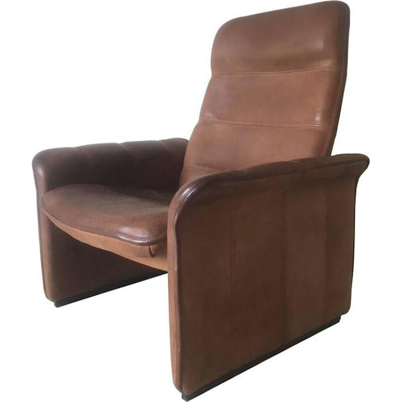 Adjustable leather lounge chair, Model DS-50 by De Sede - 1960s