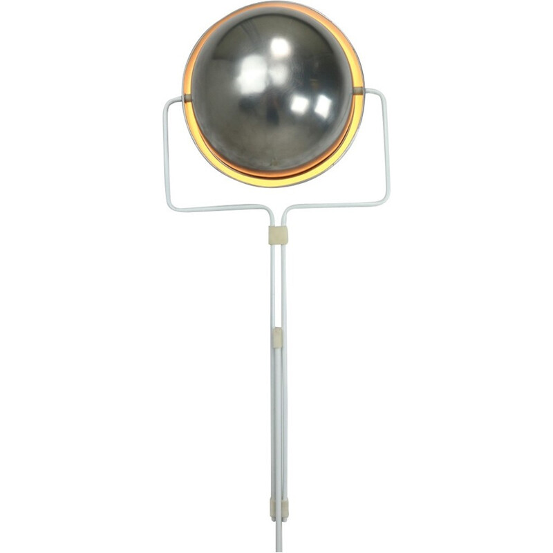 Eclipse floor lamp in metal and aluminium by Evert Jelles produced by Raak - 1960s