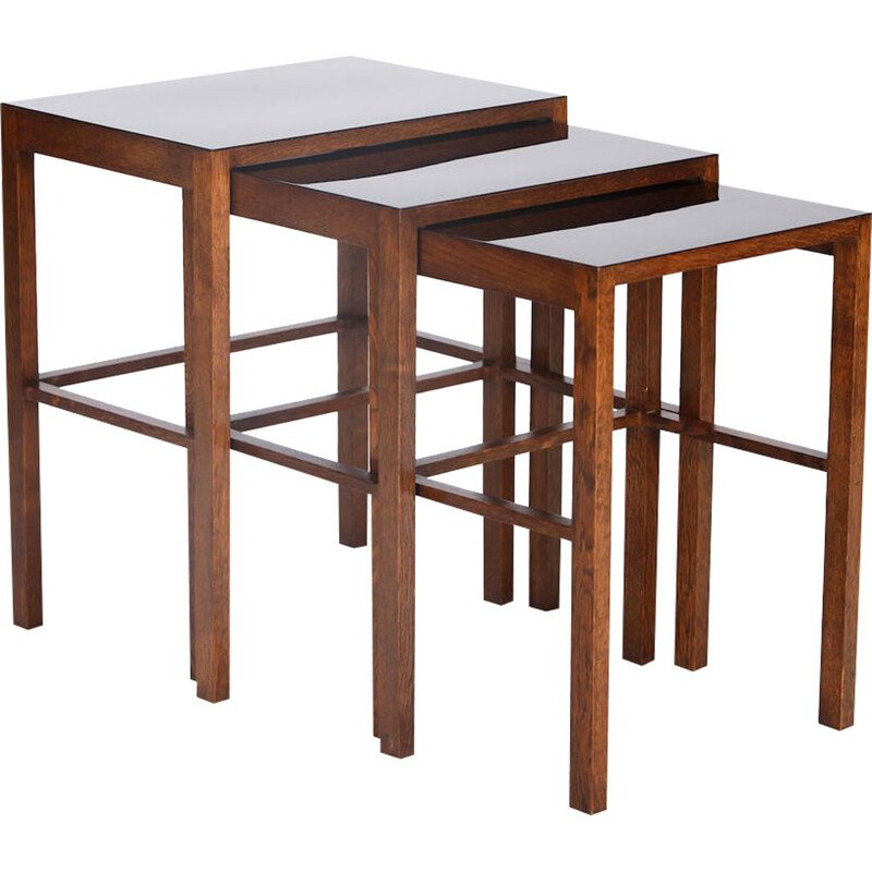 H-50 Nesting Tables by Jindrich Halabala for Spojene - 1930s
