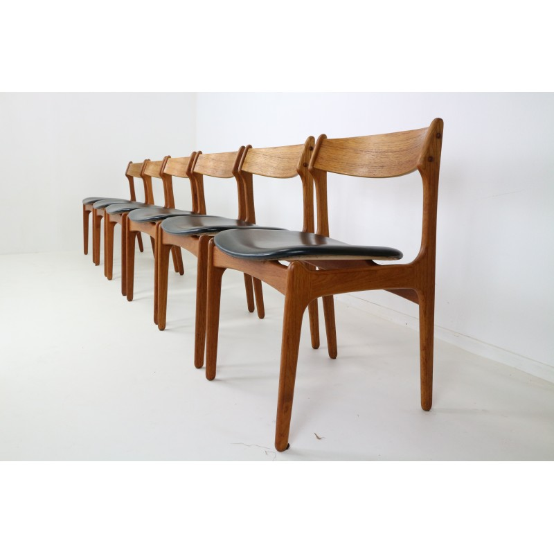 Set of 6 danish teak dining chairs by Erik Buch for O D 1960s