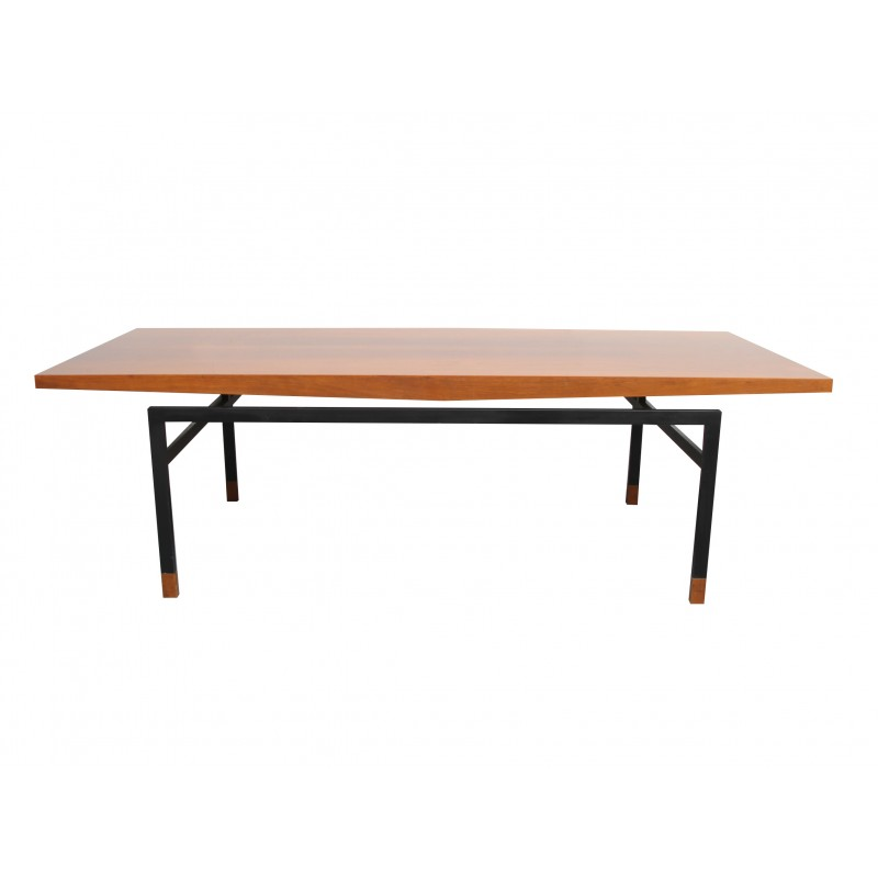 German Coffee Table In Walnut And Metal 1960s Design Market