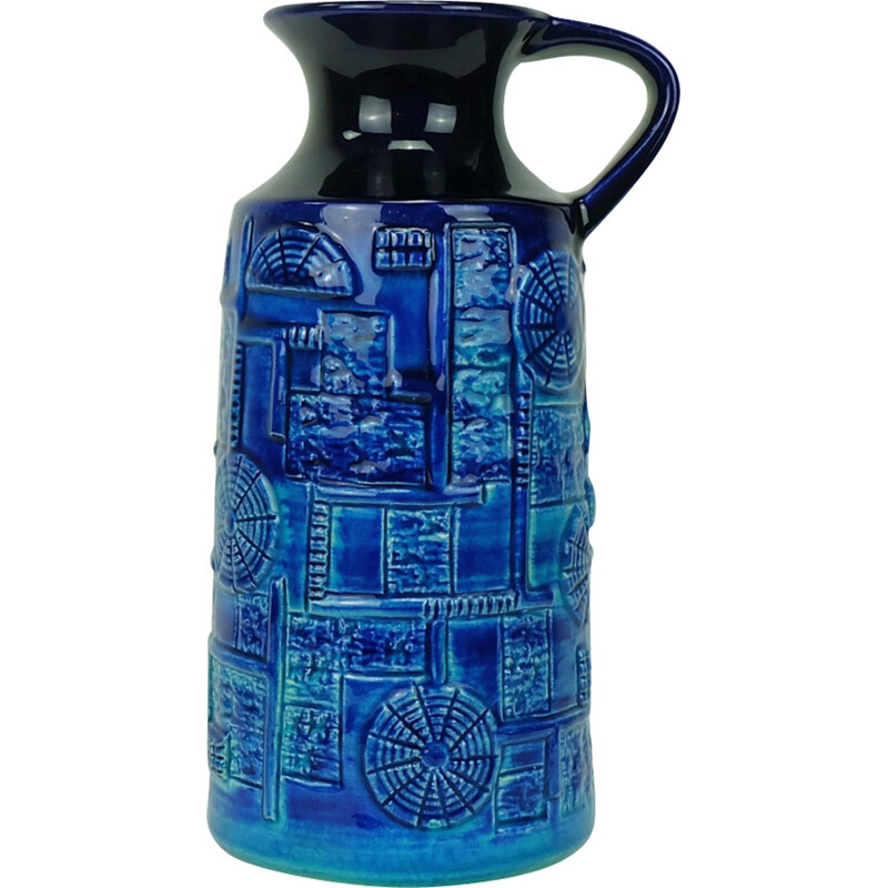 Blue & turquoise 'Narvik' vase by Bodo Mans - 1960s