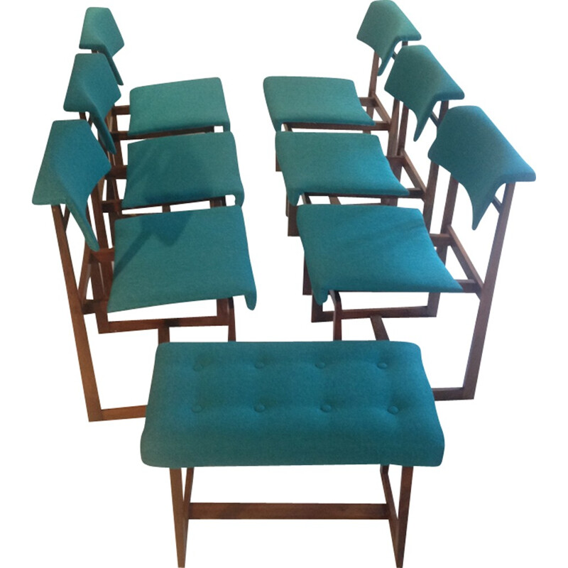 Set of 6 dining chairs by Henning Sørensen for Hos Dan-Ex - 1960s