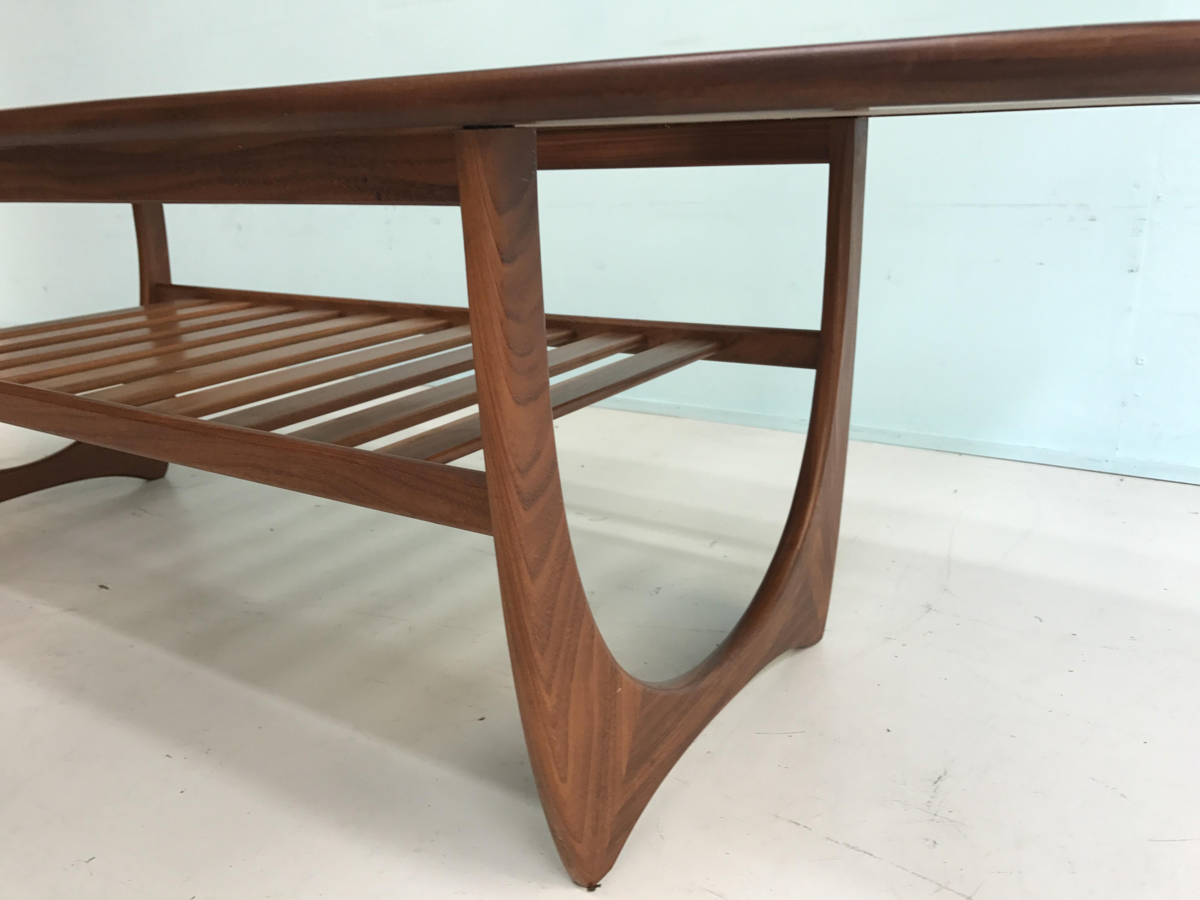 G-Plan glass coffee table - 1960s - Design Market
