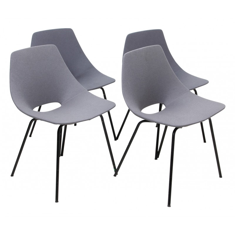 """Suite of 4 """"Amsterdam"""" chairs, Pierre GUARICHE - 1950s"""