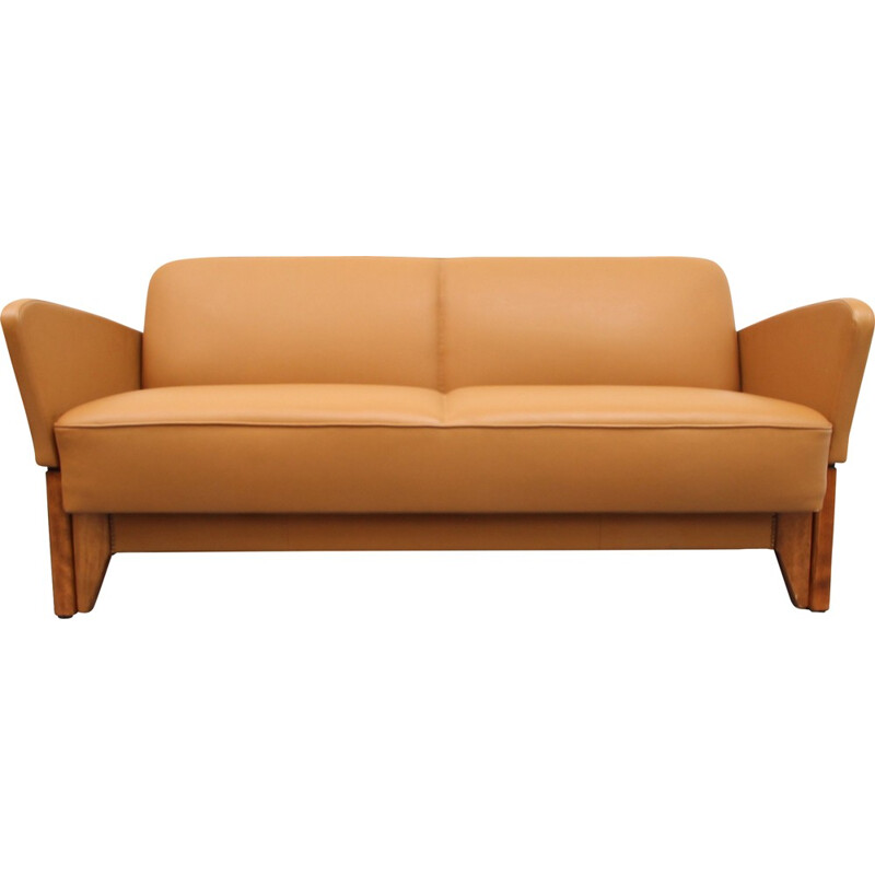 Daybed in leather cognac color - 1950s