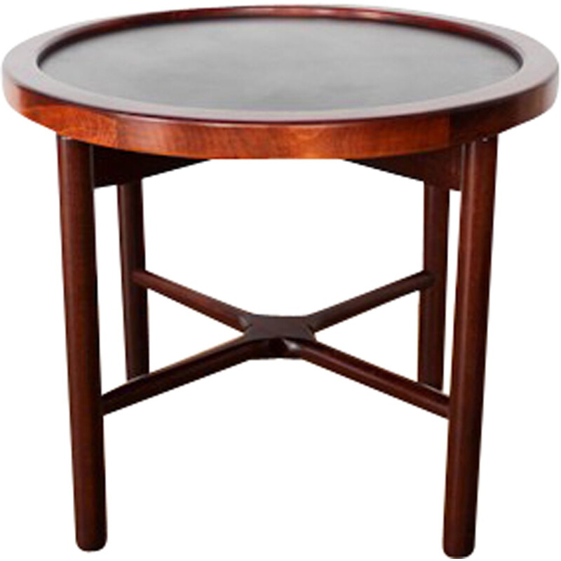 Scandinavian Rio Rosewood round Side Table - 1960s