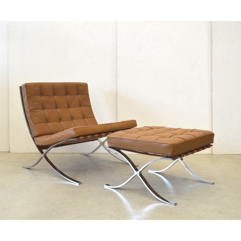Barcelona Armchair With Ottoman By Knoll International   1960s   Design  Market