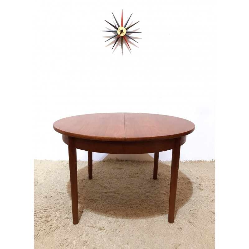 Midcentury British Dalescraft Extendable Round Dining Table S - Extendable tulip table