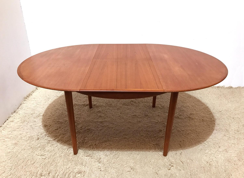 Mid Century Vintage Danish Dyrlund Extending Round Dining Table 1960s Design Market