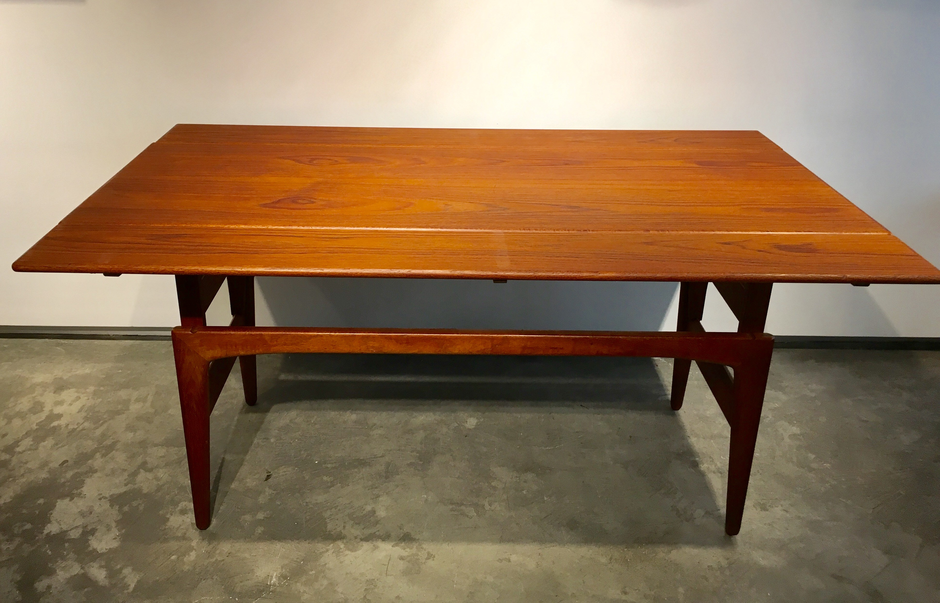 Awesome danish teak furniture inspirational for Table up down extensible
