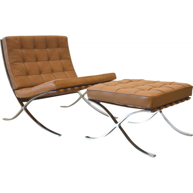 Bon Barcelona Armchair With Ottoman By Knoll International   1960s