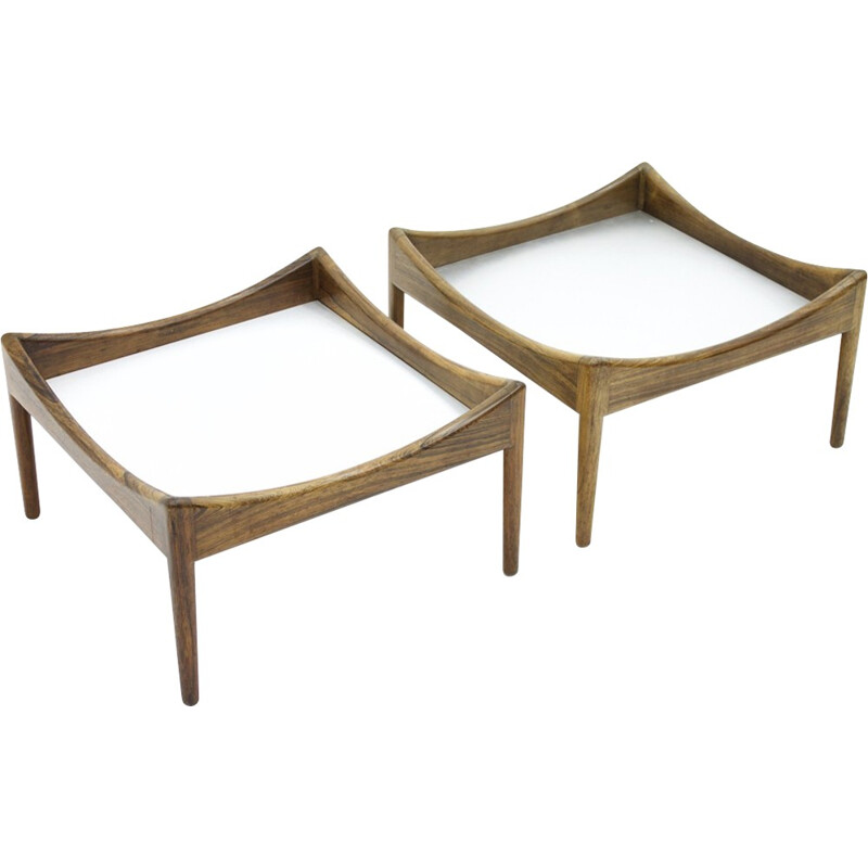 Pair of rosewood side tables by Christian Solmer Vedel - 1960s