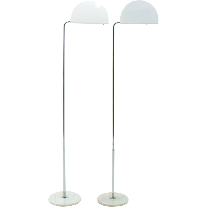 Pair of floor lamp by Bruno Gecchelin Mazzeluna for Skipper Italy - 1970s
