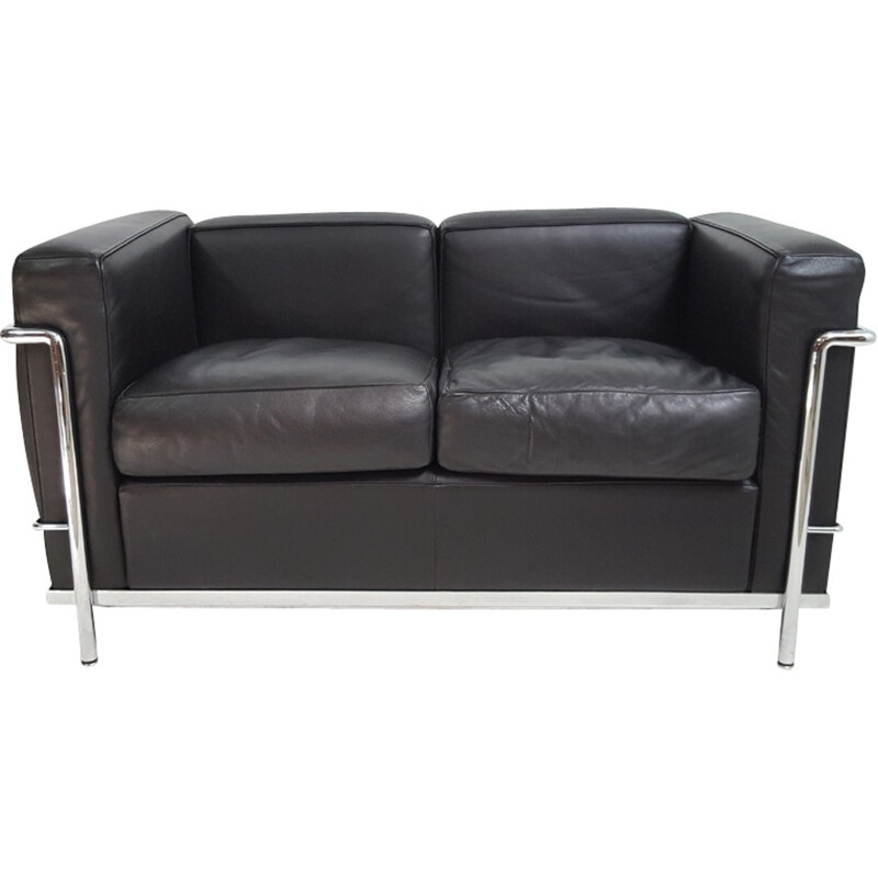 Leather sofa LC2, Le Corbusier - Cassina edition