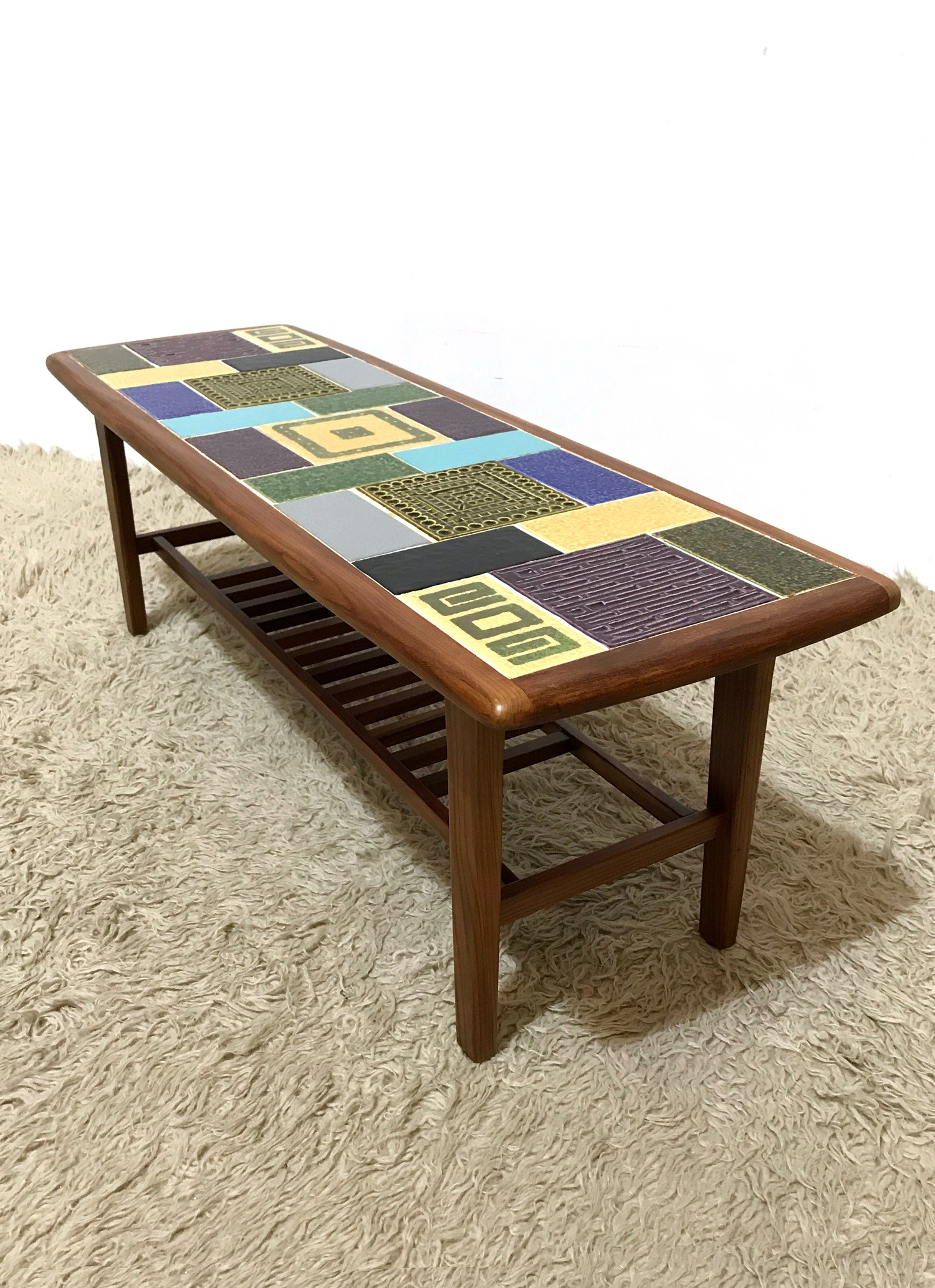 Mid century ceramic tiles coffee table by Malkin Johnson 1960s