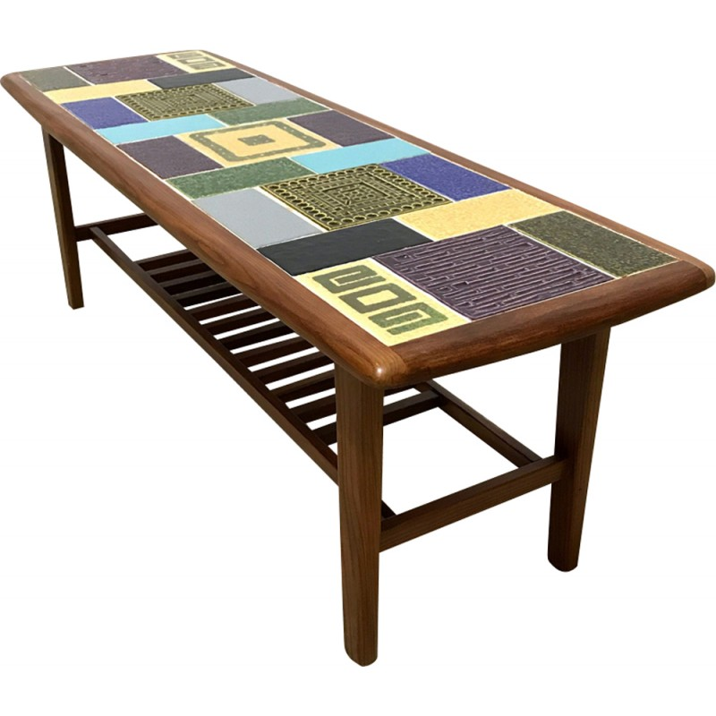 Mid century ceramic tiles coffee table by Malkin Johnson - 1960s ...