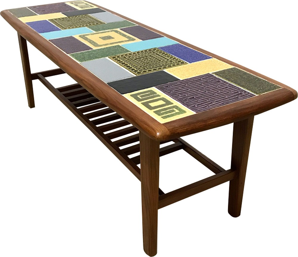 Mid Century Ceramic Tiles Coffee Table By Malkin Johnson 1960s Previous Next