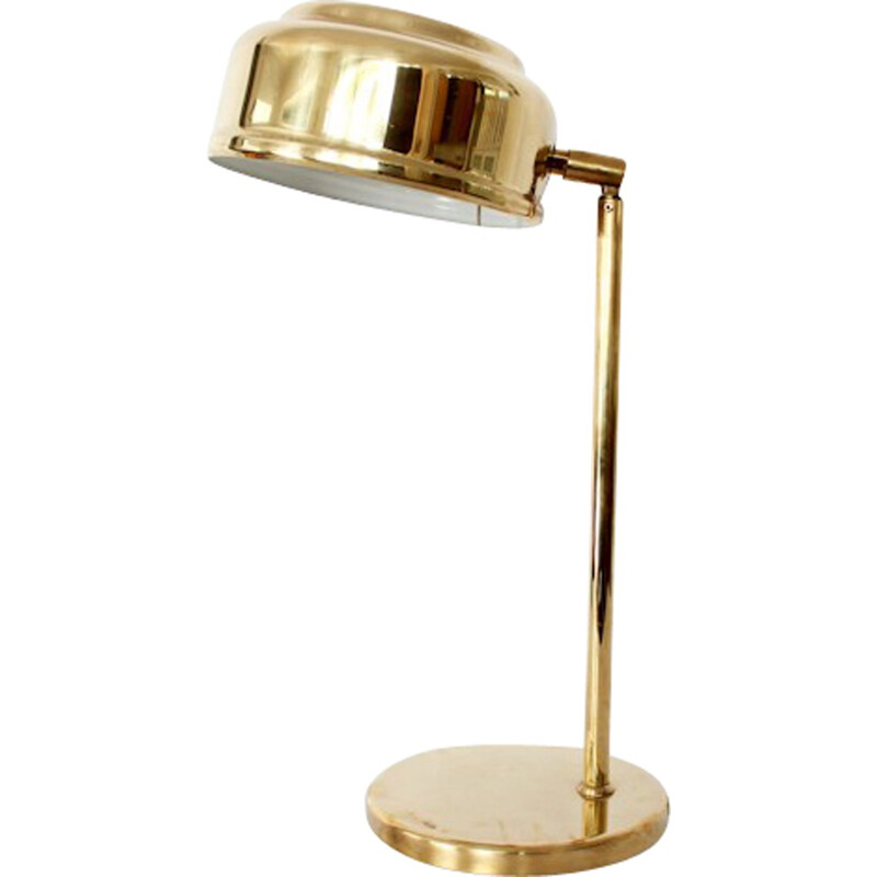 Golden and brass desk lamp by Börje Claes - 1960s