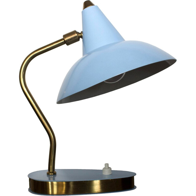 Mid-Century table lamp in metal and brass - 1950s