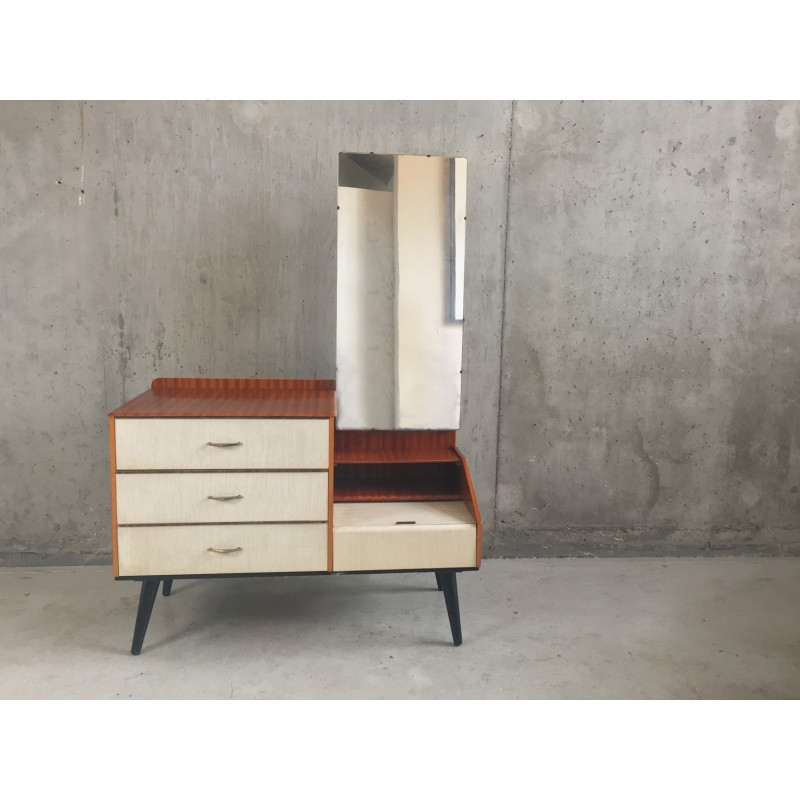 Mid Century Dressing Table With Full Length Mirror 1960s Design