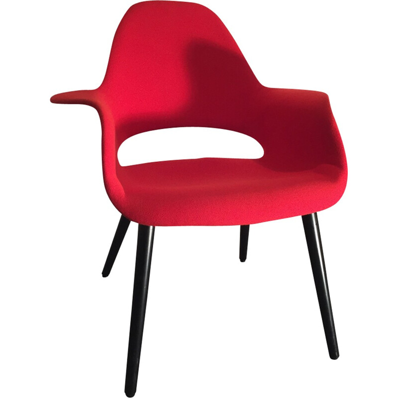 """Red """"Organic chair"""" by Eames and Saarinen - 2000s"""