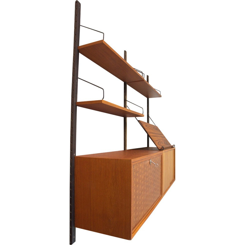Teak shelf wall unit by Poul Cadovius for Cado, Denmark - 1960s