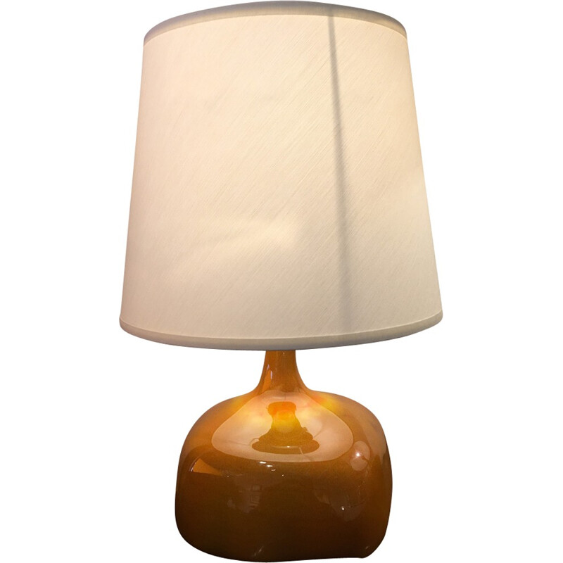 Mid-century gray lamp by Jacques and Dani Ruelland - 1950s