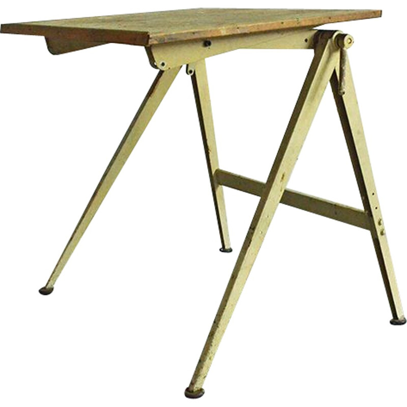 Mid-century industrial drafting table - 1950s