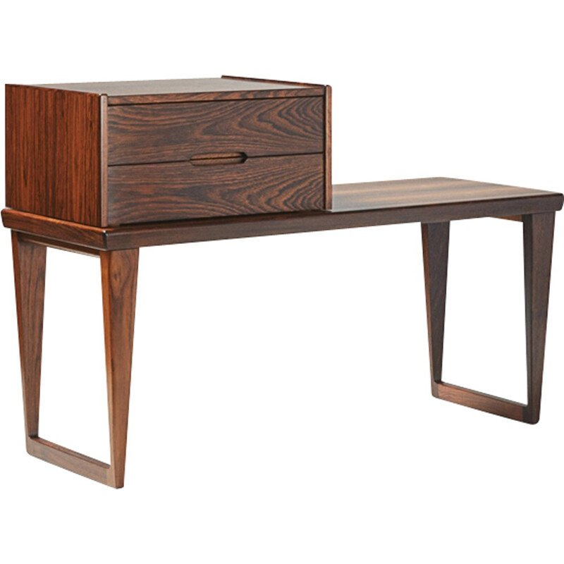 Rosewood bench with drawers unit, Kai KRISTIANSEN - 1960s
