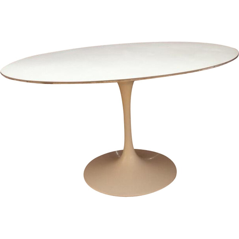 Coffee table in white melamine by Eero Saarinen for Knoll - 1970s