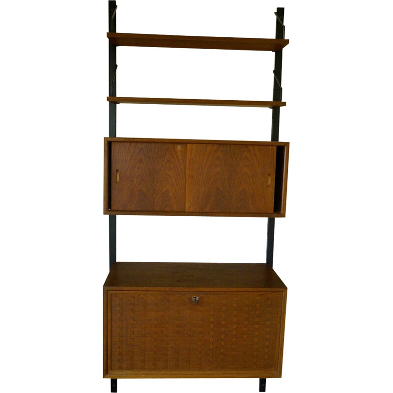 Teak wall unit by Paul Cadoivus for Cado - 1960s