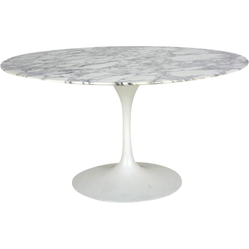 White dining table by Eero Saarinen for Knoll International - 1960s